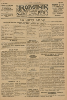 Robotnik : centralny organ P.P.S. R.34, nr 328 (20 listopada 1928) = nr 3535