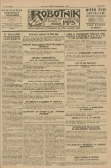 Robotnik : centralny organ P.P.S. R.34, nr 331 (23 listopada 1928) = nr 3538