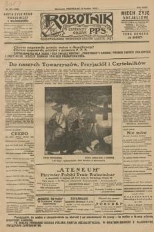 Robotnik : centralny organ P.P.S. R.34, nr 361 (24 grudnia 1928) = nr 3568