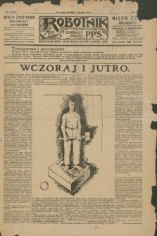 Robotnik : centralny organ P.P.S. R.35, nr 1 (1 stycznia 1929) = nr 3574