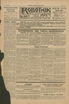 Robotnik : centralny organ P.P.S. R.35, nr 4 (4 stycznia 1929) = nr 3577