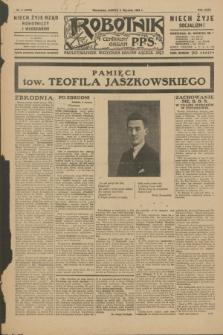 Robotnik : centralny organ P.P.S. R.35, nr 5 (5 stycznia 1929) = nr 3578