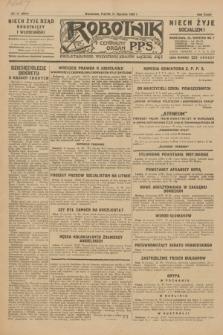 Robotnik : centralny organ P.P.S. R.35, nr 11 (11 stycznia 1929) = nr 3583