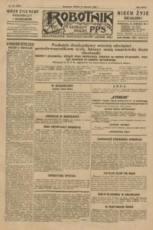 Robotnik : centralny organ P.P.S. R.35, nr 23 (23 stycznia 1929) = nr 3595