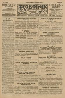 Robotnik : centralny organ P.P.S. R.35, nr 24 (24 stycznia 1929) = nr 3596
