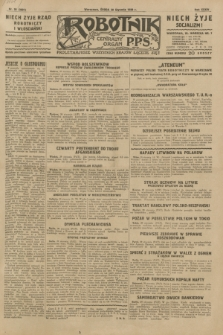 Robotnik : centralny organ P.P.S. R.35, nr 30 (30 stycznia 1929) = nr 3601