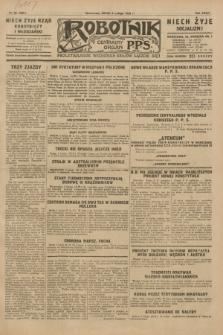 Robotnik : centralny organ P.P.S. R.35, nr 36 (6 lutego 1929) = nr 3607