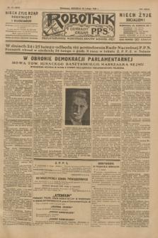Robotnik : centralny organ P.P.S. R.35, nr 40 (10 lutego 1929) = nr 3610