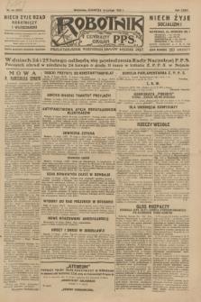 Robotnik : centralny organ P.P.S. R.35, nr 44 (14 lutego 1929) = nr 3615