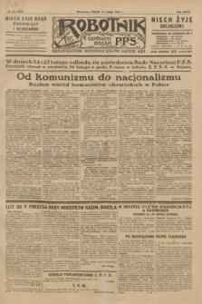 Robotnik : centralny organ P.P.S. R.35, nr 45 (15 lutego 1929) = nr 3616