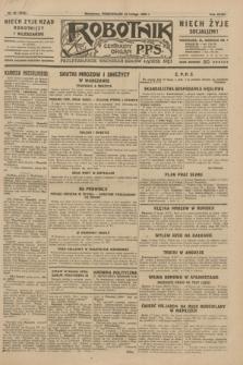 Robotnik : centralny organ P.P.S. R.35, nr 48 (18 lutego 1929) = nr 3619