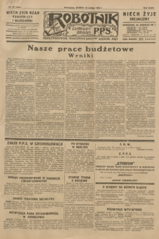 Robotnik : centralny organ P.P.S. R.35, nr 49 (19 lutego 1929) = nr 3620