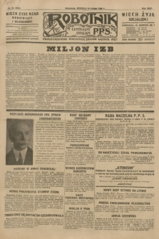 Robotnik : centralny organ P.P.S. R.35, nr 54 (24 lutego 1929) = nr 3625
