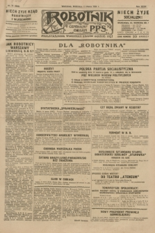 Robotnik : centralny organ P.P.S. R.35, nr 75 (17 marca 1929) = nr 3646