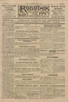 Robotnik : centralny organ P.P.S. R.35, nr 82 (24 marca 1929) = nr 3653