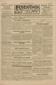 Robotnik : centralny organ P.P.S. R.35, nr 93 (6 kwietnia 1929) = nr 3664
