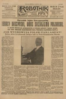 Robotnik : centralny organ P.P.S. R.35, nr 103 (14 kwietnia 1929) = nr 3675
