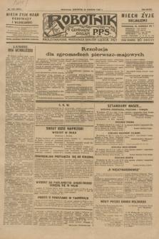 Robotnik : centralny organ P.P.S. R.35, nr 115 (25 kwietnia 1929) = nr 3677