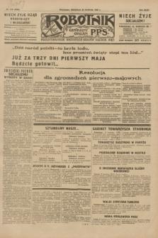 Robotnik : centralny organ P.P.S. R.35, nr 118 (28 kwietnia 1929) = nr 3680
