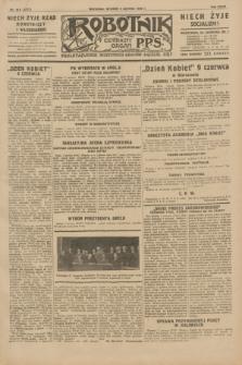 Robotnik : centralny organ P.P.S. R.35, nr 155 (4 czerwca 1929) = nr 3717