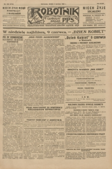 Robotnik : centralny organ P.P.S. R.35, nr 156 (5 czerwca 1929) = nr 3718