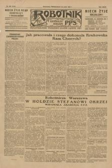 Robotnik : centralny organ P.P.S. R.35, nr 204 (22 lipca 1929) = nr 3765