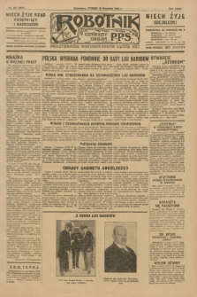Robotnik : centralny organ P.P.S. R.35, nr 257 (10 września 1929) = nr 3817