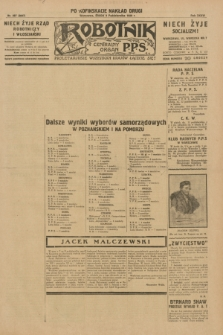 Robotnik : centralny organ P.P.S. R.35, nr 287 (9 października 1929) = nr 3847 (po konfiskacie nakład drugi)
