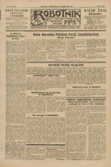 Robotnik : centralny organ P.P.S. R.35, nr 291 (14 października 1929) = nr 3851