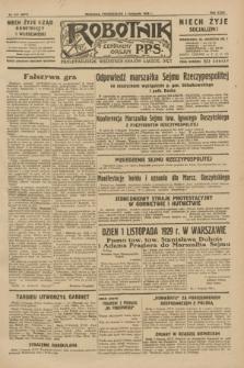 Robotnik : centralny organ P.P.S. R.35, nr 317 (4 listopada 1929) = nr 3877