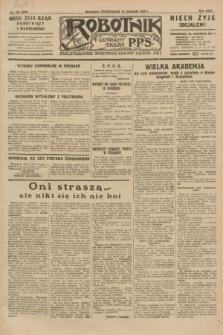 Robotnik : centralny organ P.P.S. R.35, nr 333 (18 listopada 1929) = nr 3893