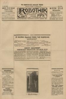 Robotnik : centralny organ P.P.S. R.35, nr 336 (19 listopada 1929) = nr 3896 (po konfiskacie nakład trzeci)