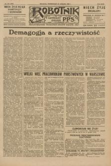 Robotnik : centralny organ P.P.S. R.35, nr 345 (25 listopada 1929) = nr 3905