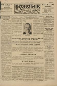 Robotnik : centralny organ P.P.S. R.36 [i.e. 37], nr 74 (21 lutego 1931) = nr 4414