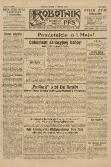 Robotnik : centralny organ P.P.S. R.36 [i.e.37], nr 145 (21 kwietnia 1931) = nr 4485
