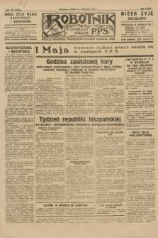 Robotnik : centralny organ P.P.S. R.36 [i.e.37], nr 146 (22 kwietnia 1931) = nr 4486