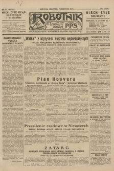 Robotnik : centralny organ P.P.S. R.37, nr 351 (8 października 1931) = nr 4691