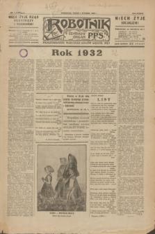 Robotnik : centralny organ P.P.S. R.38, nr 1 (1 stycznia 1932) = nr 4797