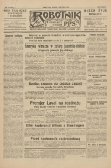 Robotnik : centralny organ P.P.S. R.38, nr 9 (9 stycznia 1932) = nr 4805