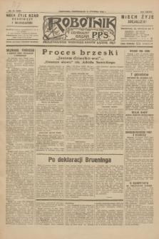 Robotnik : centralny organ P.P.S. R.38, nr 12 (11 stycznia 1932) = nr 4808