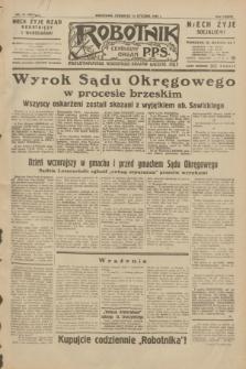 Robotnik : centralny organ P.P.S. R.38, nr 15 (14 stycznia 1932) = nr 4811