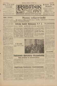 Robotnik : centralny organ P.P.S. R.38, nr 19 (17 stycznia 1932) = nr 4815
