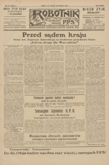 Robotnik : centralny organ P.P.S. R.38, nr 24 (22 stycznia 1932) = nr 4820