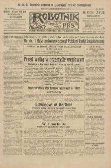 Robotnik : centralny organ P.P.S. R.38, nr 30 (28 stycznia 1932) = nr 4826