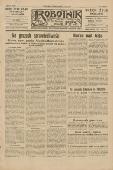 Robotnik : centralny organ P.P.S. R.38, nr 43 (8 lutego 1932) = nr 4839