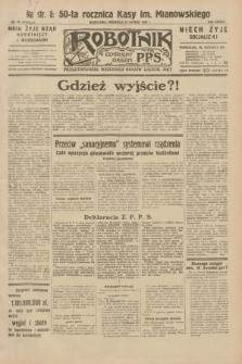 Robotnik : centralny organ P.P.S. R.38, nr 49 (14 lutego 1932) = nr 4845