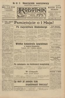 Robotnik : centralny organ P.P.S. R.38, nr 126 (13 kwietnia 1932) = nr 4919