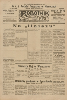 Robotnik : centralny organ P.P.S. R.38, nr 143 (26 kwietnia 1932) = nr 4936 (po konfiskacie nakład drugi)