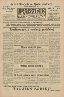 Robotnik : centralny organ P.P.S. R.38, nr 172 (22 maja 1932) = nr 4965