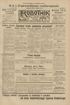 Robotnik : centralny organ P.P.S. R.38, nr 184 (1 czerwca 1932) = nr 4977